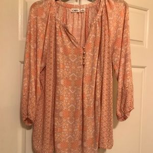 Peachy peasant top. Great for summer!